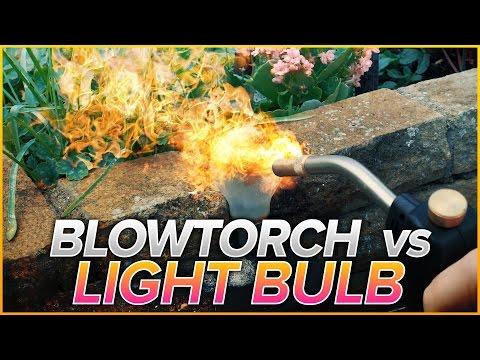 Blowtorch vs Lightbulb + Egg + Steel Wool | Will It Melt?