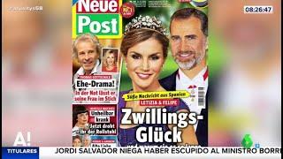 La noticia que ocupa las portadas alemanas: la reina Letizia espera gemelos