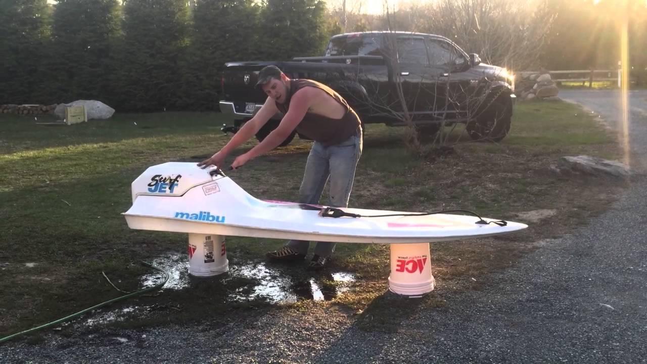 Paddle Board Rack >> 1989 Surf Jet Malibu - YouTube