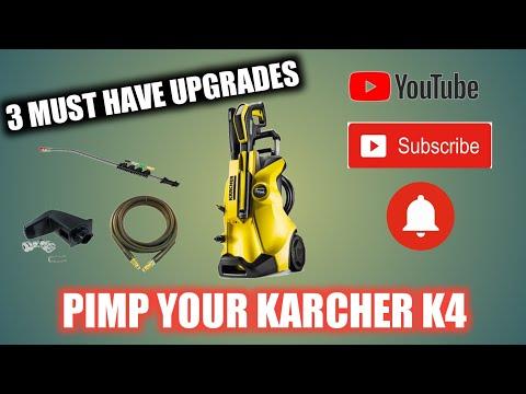 Karcher K4 upgrades. 3 upgrades your K4 needs! back foot, hose and lance.