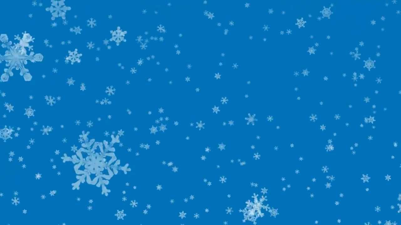 falling snowflakes - black screen / blue screen - YouTube  falling snowfla...