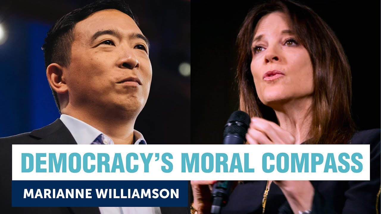 How do we fix Democracy's moral compass? Andrew Yang + Marianne Williamson | Yang Speaks