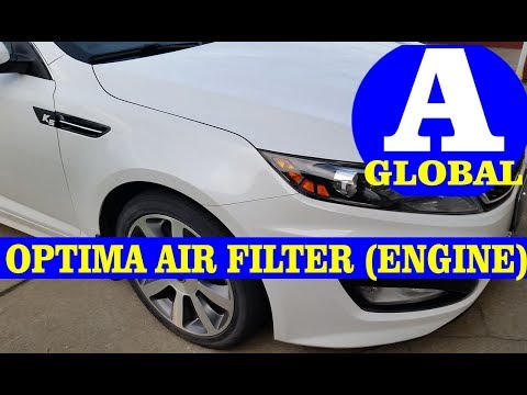 Kia Optima Engine Air Filter Replacement and Location
