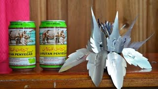 cara membuat bunga dari kaleng bekas