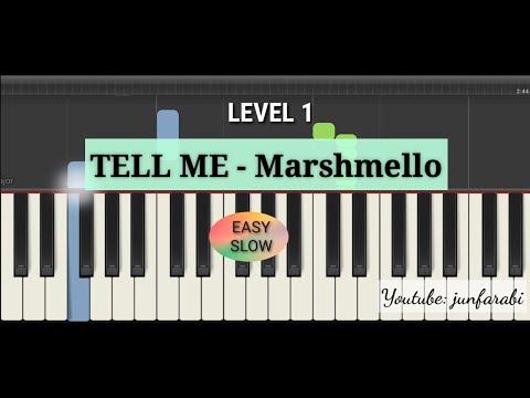 tell me marshmello piano slow - piano easy