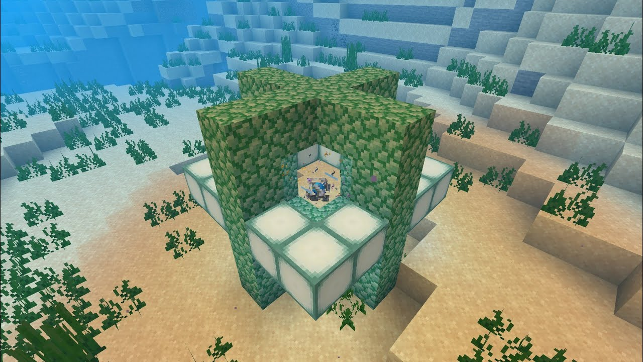 How To Build A Conduit In Minecraft Ps4 Xbox 2019 Heart Of The Sea Youtube