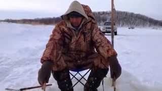 Зимова рибалка на Тунгусці