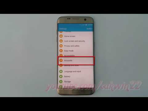Samsung Galaxy S7 Edge : How to Remove Facebook Account (Android Marshmallow)