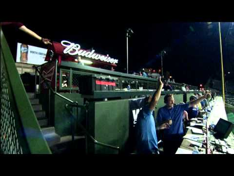 Len and JD Broadcast from the Budweiser Patio