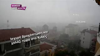 Ισχυρή βροχόπτωση και χαλάζι στο Κιλκίς-Eidisis.gr