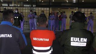 Seguridad privada homenajea al personal del Hospital Doctor Negrín