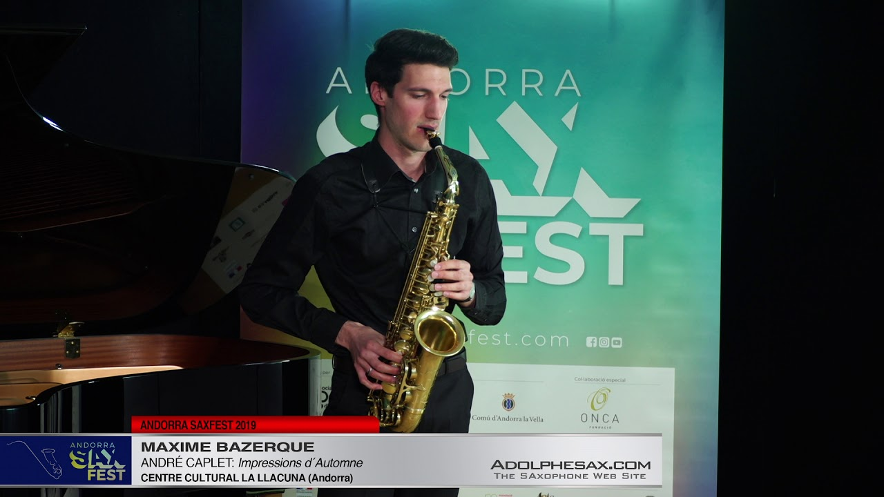 Andorra SaxFest 2019 1st Round   Maxime Bazerque   Impressions d´Automne by Andre Caplet