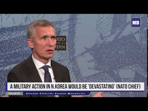 A military action in N Korea would be 'devastating' - Nato chief