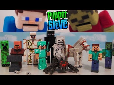 Minecraft Series 1 & 2 Action Figures Set Jazwares Unboxing Toys Overworld - Zombie Enderman