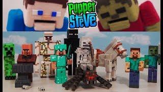 Minecraft Series 1 & 2 Action Figures Set Jazwares Unboxing Toys Overworld - Zombie, Enderman