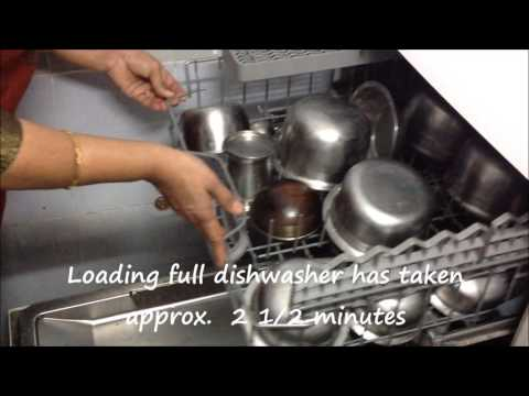 Dishwasher demo - Full steel utensils long cycle with Powerball (demo # 3)