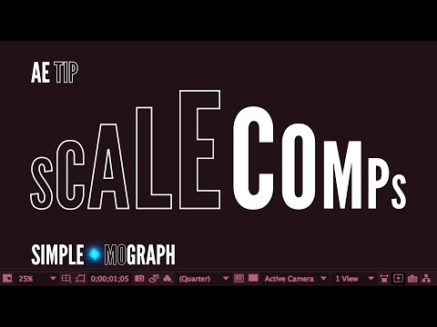 After Effects Tutorial - How to scale a composition to a new size - Level: Beginner