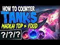HOW TO COUNTER TANKS | MAOKAI TOP LANE = FOOD | Cho'Gath vs Maokai TOP Lane S8 Ranked Gameplay