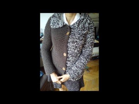b07d2034c454 Harlequin Loom Knit Jacket - YouTube