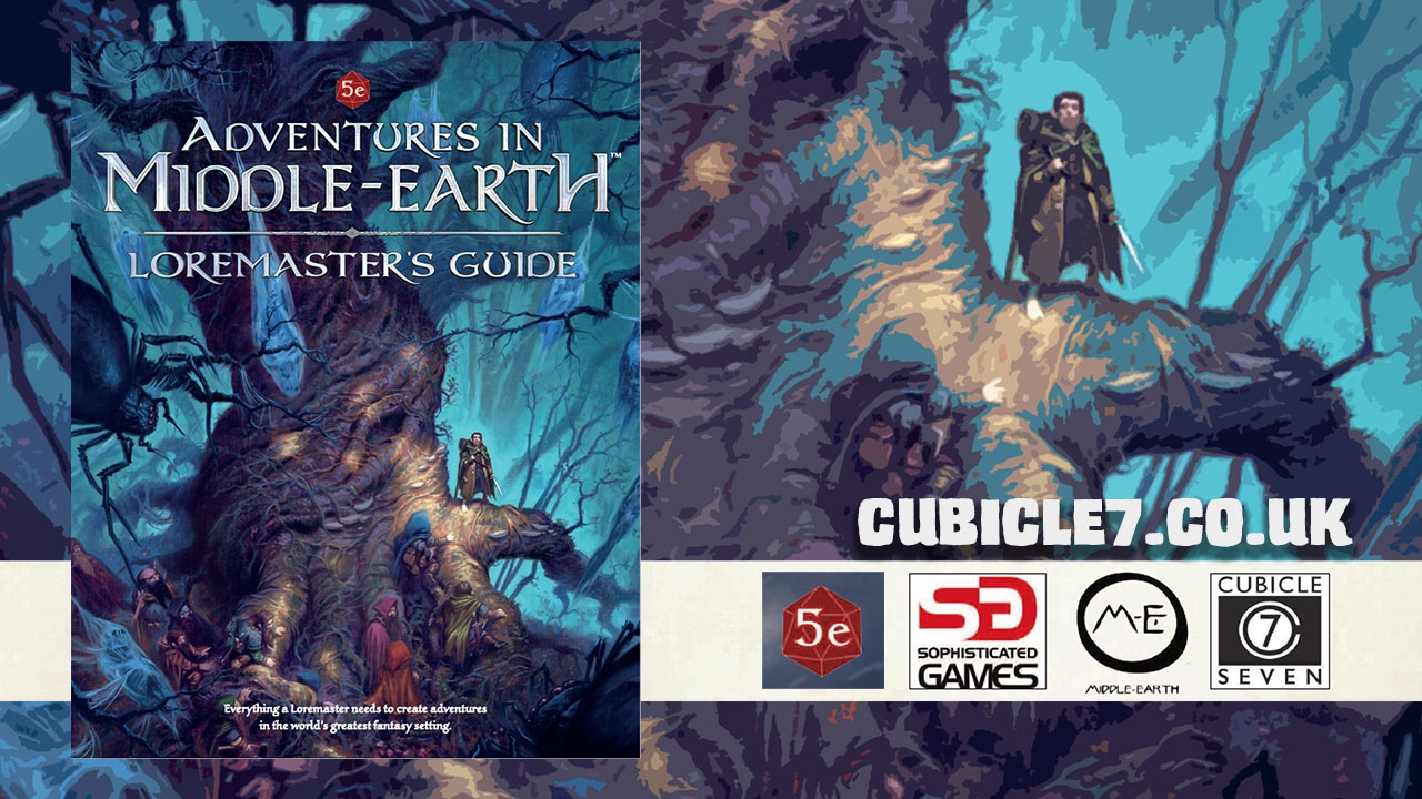 game geeks rpg 279 adventures in middle earth loremaster s guide by cubicle 7 youtube