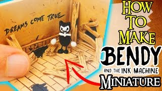 diy bendy and the ink machine miniature tutorial how to make polymer clay craft