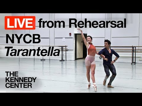 "New York City Ballet - LIVE Rehearsal at The Kennedy Center: ""Tarantella"""
