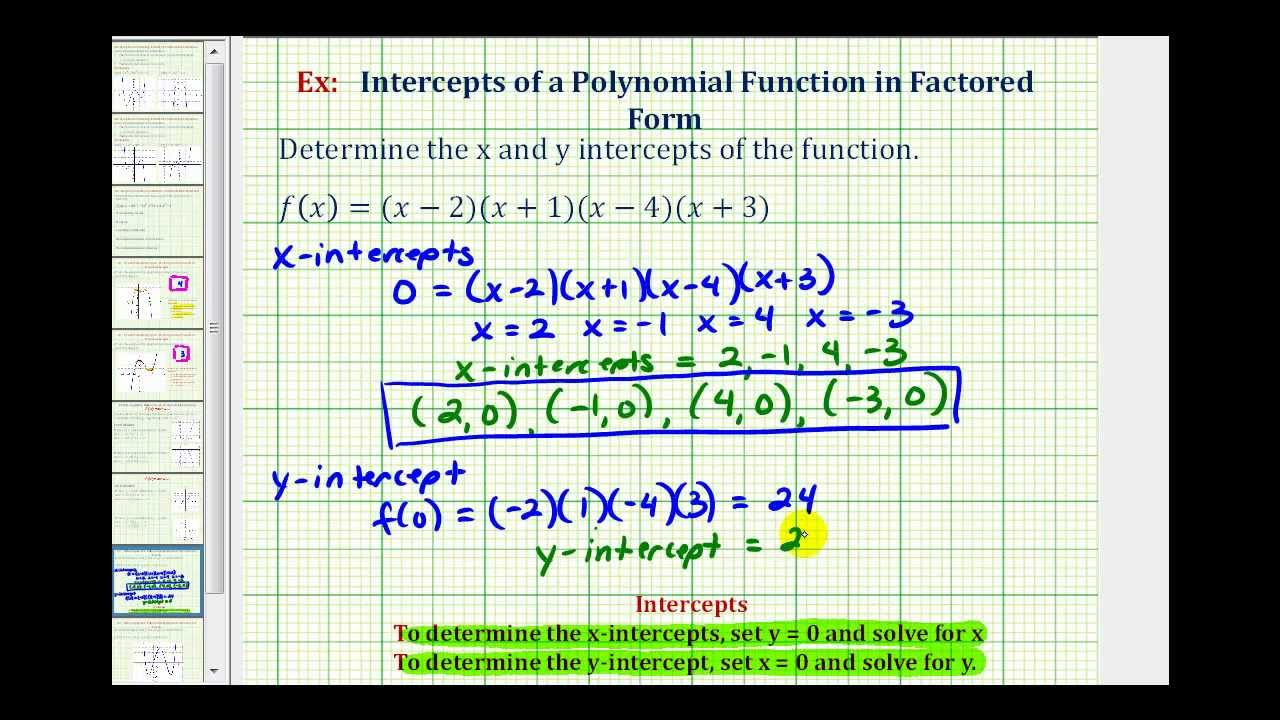 polynomial and factored form Factoring polynomials involves breaking up a polynomial into simpler terms (the factors) such that when the terms are multiplied together they equal the original.