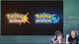 Pokemon Sun and Moon Announcement LIVE REACTION