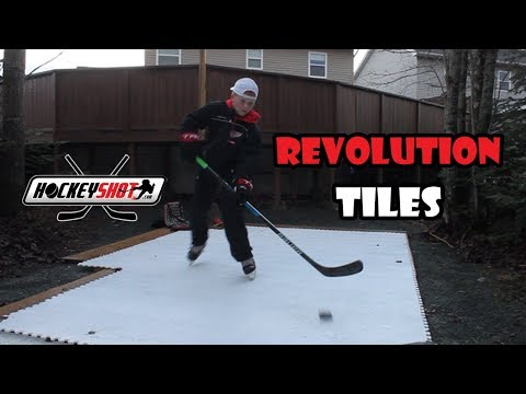 SKATING WITHOUT ICE! *hockey shot revolution tiles*