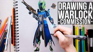 DESTINY  | Drawing A Warlock - COBRA