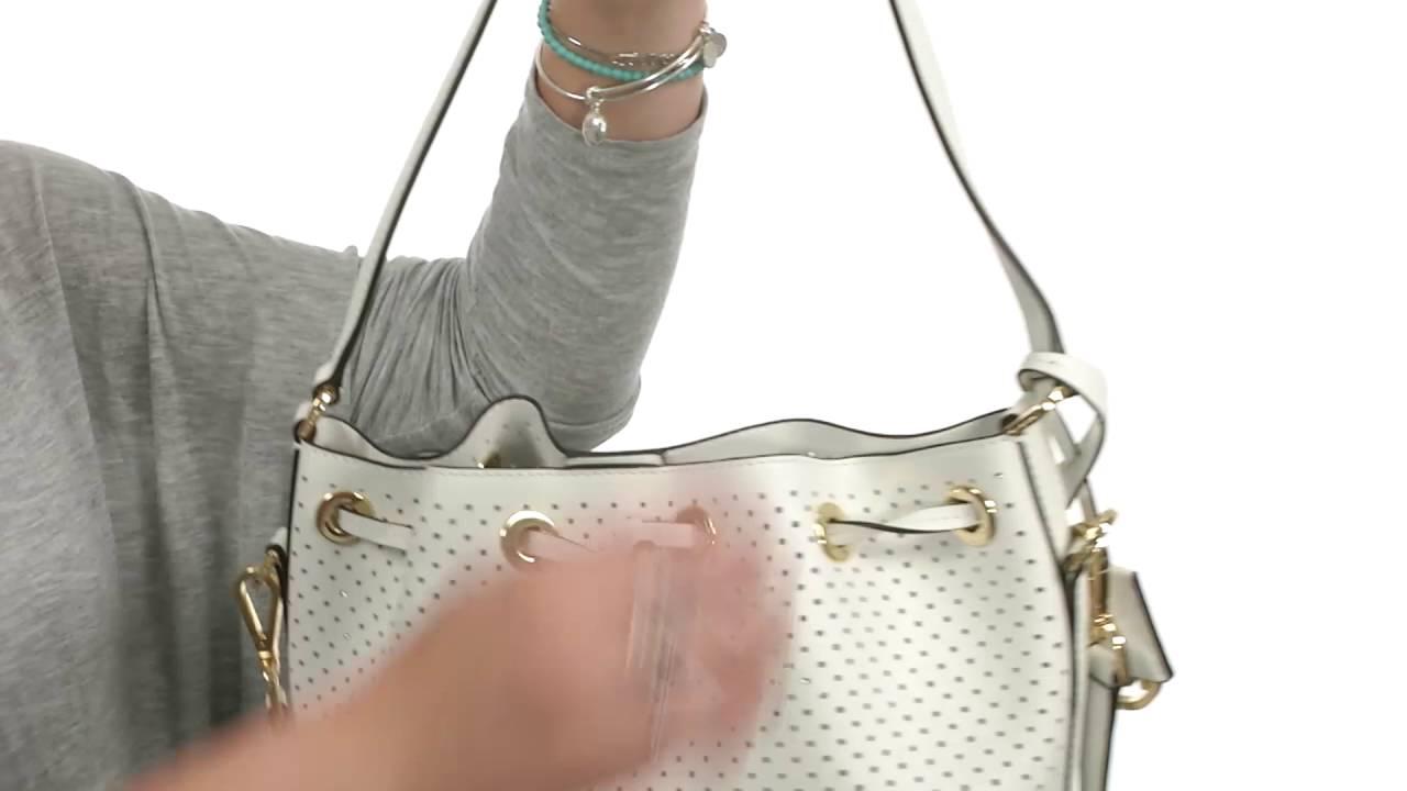 11dad7399d64a4 MICHAEL Michael Kors - Greenwich Medium Bucket Bag SKU:8703693 - YouTube