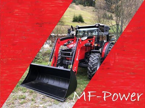 Brennholz Lagerplatz aufräumen MF 4707 cabview Forsttechnik Traktor Frontlader