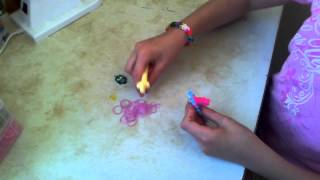 урок:плетение резинками -браслет тротуар  на станке