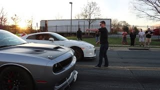Real Street Racing GTR Vs Hellcat!!!
