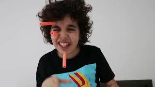 Nerf darts on my face -