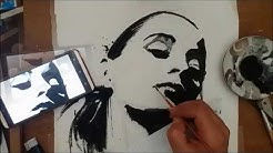 Portrait Drawing - This Is Why i Love Black And White - Portrait Girl - Drawin a Female