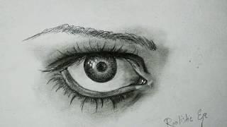 eye easy draw realistic simple tutorial