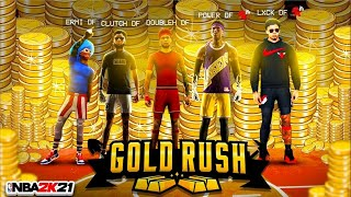 FIRST EVER DF GOLD RUSH ROYALE EVENT! Which DF MEMBER can get the most VC with RANDOMS?(NBA2K21)