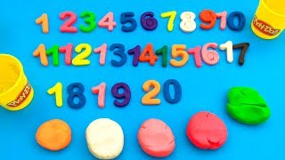 How to Make Numbers with Clay from 1 to 20 - Play Doh Modelling Clay