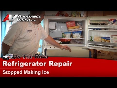 Kenmore Refrigerator Repair - Stopped Making Ice ... on