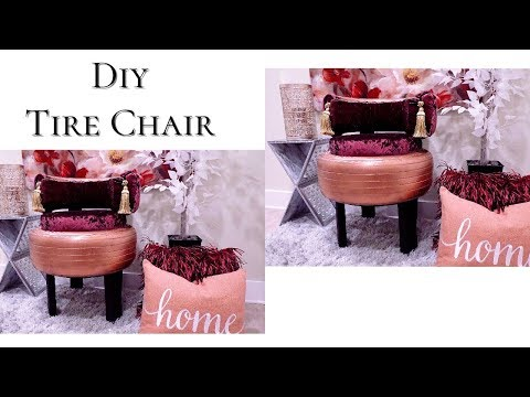 DIY OLD CAR TIRES INTO CHAIRS- HOME DECOR IDEAS ON A BUDGET! GIVEAWAY WINNERS!!!