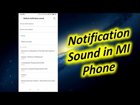 Change Or Turn Off Notification Sound In Xiaomi Phone