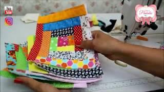Reaproveitando os tecidos como fazer blocos em Patchwork usando a técnica Crazy