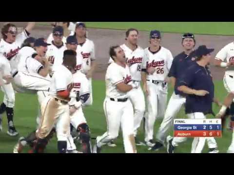 02-20-2018 Auburn Baseball Walks Off Against Georgia State