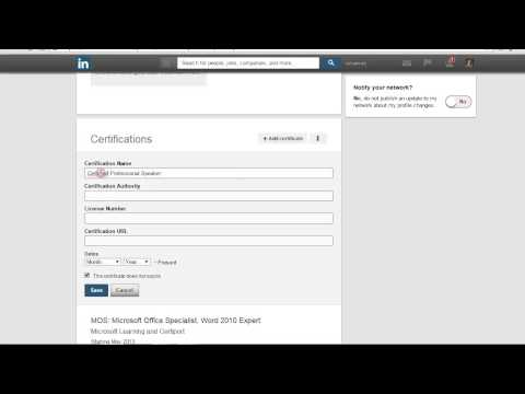 How to add Certifications to the Proper Place on your LinkedIn Profile