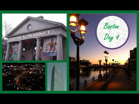 Back Bay, Quincy Market & Harbourfront - Boston Day 4 - Christmas Travel Vlog