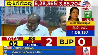 Karnataka By-Election 2018 Results: CM Kumaraswamy Speaks To Media Over Bypoll Success