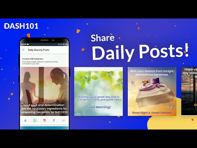 How to share daily posts with your customers?