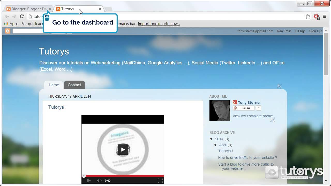 How to change the header of the blog with Blogger ? - YouTube
