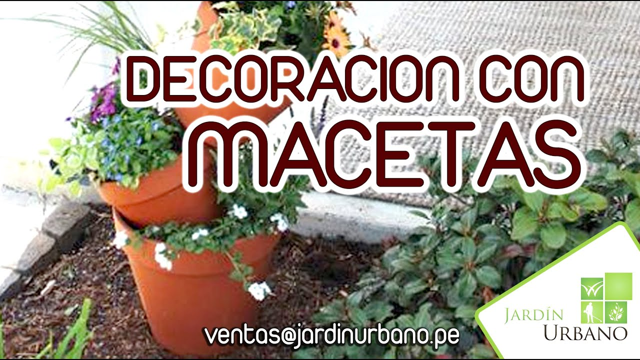 Como decorar mi casa con macetas youtube for Adornos para el jardin